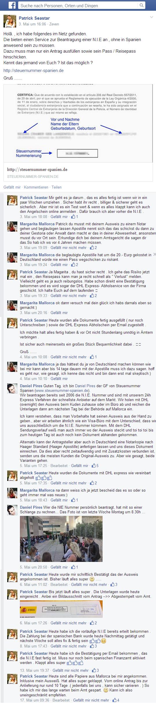 Facebook Story Marzo 2014
