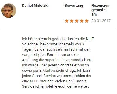 Bewertung Daniel M